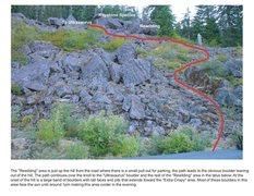 Rock Climbing Photo: Rewilding Trail map