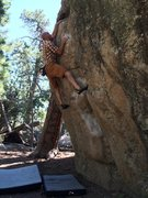 "Rock Climbing Photo: Ray Weber on a personal favorite ""Orange Roug..."