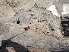 Rock Climbing Photo: finishing up the climb! ~11:40a