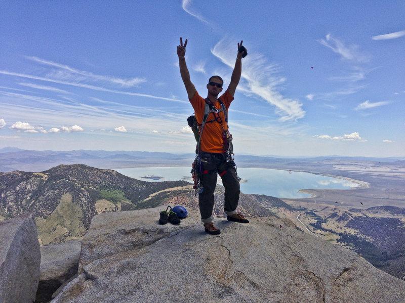 Tim stoked on the summit