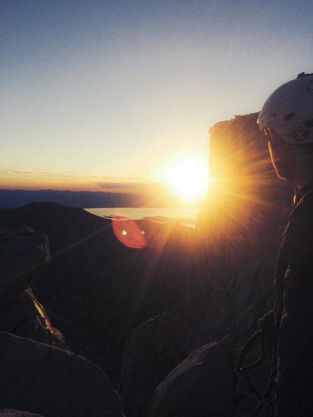 Rock Climbing Photo: Sights set on the objective.
