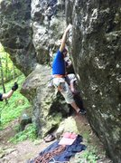 Rock Climbing Photo: Boulder problem start on CN-Red