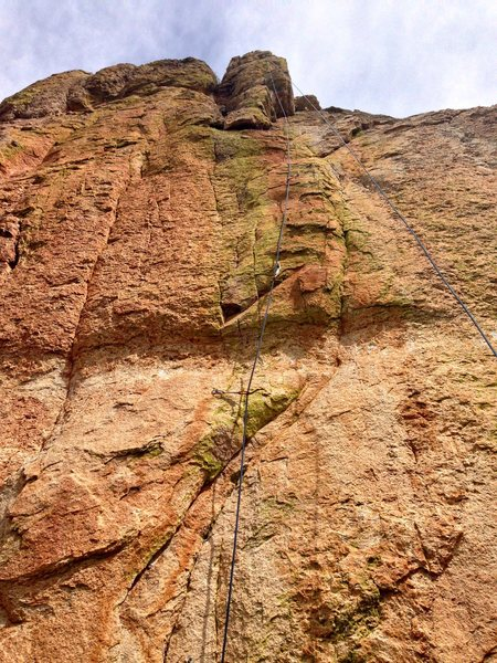 Classic rope and rock photo showing Chapalot.