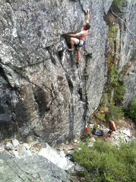 Rock Climbing Photo: Troy Corliss on Super Size Me .11a. Fast Food Wall...