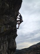 Rock Climbing Photo: Troy heading into the crux on The Power Of Negativ...