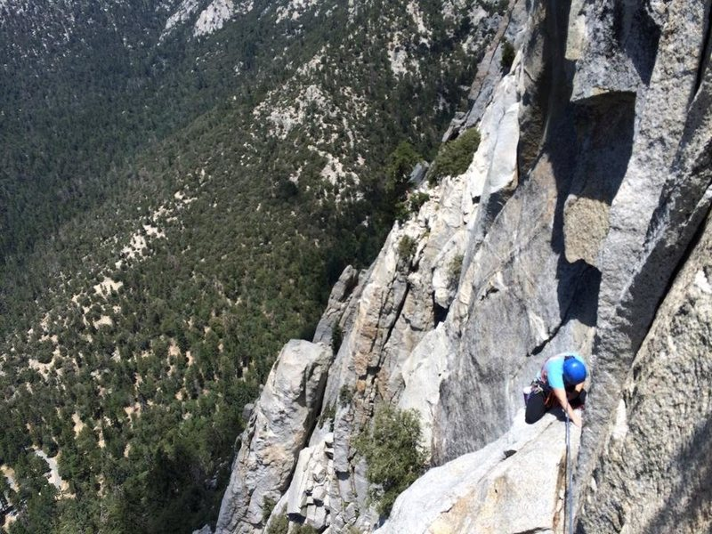 Rock Climbing Photo: My girlfriend, Devon finishing IMO the mental crux...