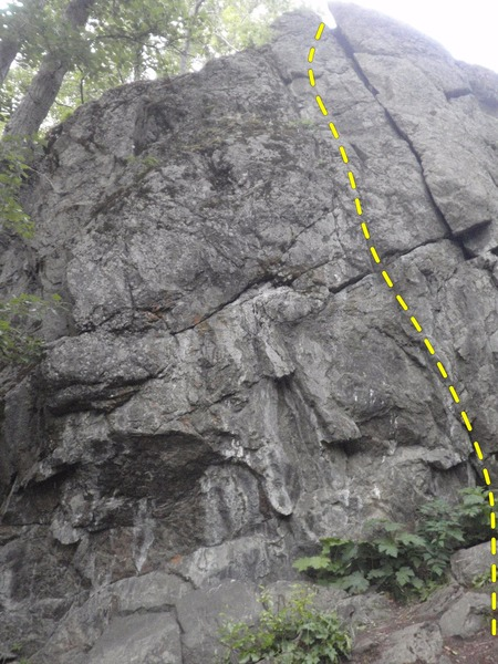 Rock Climbing Photo: Frogs Hang Dog Too stays just left of Crack In The...