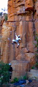 Rock Climbing Photo: Marc in the cruxy start of Women ain't nothing but...