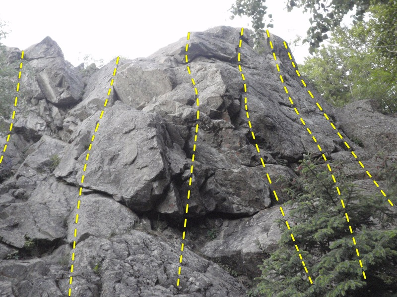 Rock Climbing Photo: This is a Topo of Upper Crack In The Woods