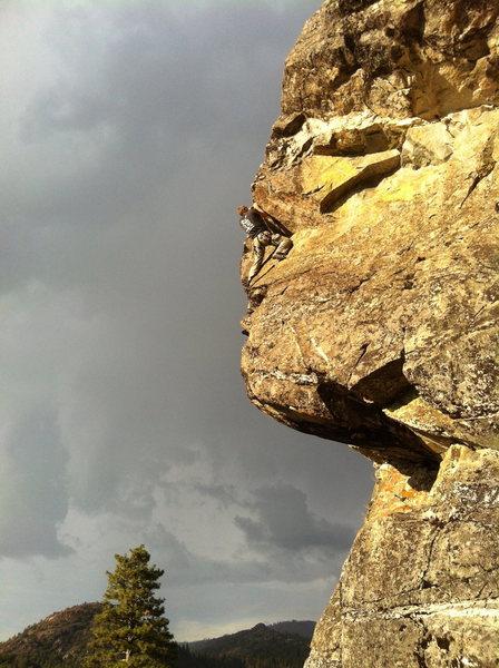 Rock Climbing Photo: Life's Bad .8. Negativity Cave, Emeralds, CA.