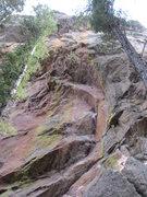 Rock Climbing Photo: S00kreem sporting a long draw through the crux.