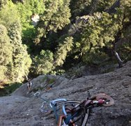 Rock Climbing Photo: Corey Crellin on Old School (P2)