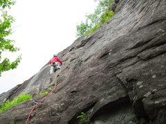 Rock Climbing Photo: Half way up Contos