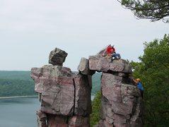 Rock Climbing Photo: Climbing Romper with the boy, photo Satermo