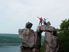 "Rock Climbing Photo: Devil's Doorway ""summit"""