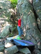 Rock Climbing Photo: Earth Mechanics.  This is the crux move if you don...