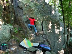 Rock Climbing Photo: To the sidepull on EM