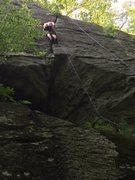 Rock Climbing Photo: Bane leading
