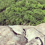 "Rock Climbing Photo: view from the ""parking lot"", top of pitc..."