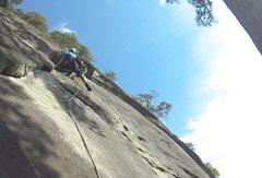 Rock Climbing Photo: Brian S. leading comatose.