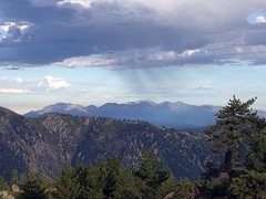 Rock Climbing Photo: San Gabriel Mountains from Lookout Point in the Sa...