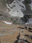 Rock Climbing Photo: Aaron following P2....