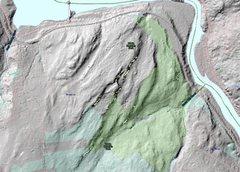 Rock Climbing Photo: Webb Mountain Park Topo. Rock outcroppings are in ...