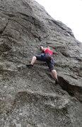 """Rock Climbing Photo: Climber beginning """"Highland Malt"""""""