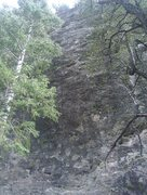 Rock Climbing Photo: a view of the route from the ground
