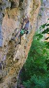 Rock Climbing Photo: Ben Hanna cruising The Kiss That Stings (5.13a).