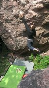 Rock Climbing Photo: The first deadpoint.