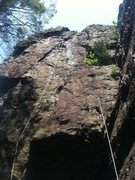 Rock Climbing Photo: Just below where everything started to feel loose....