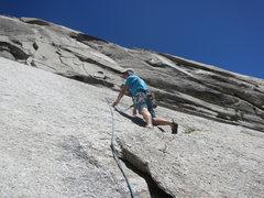 Rock Climbing Photo: Rick leading Banana Hammock