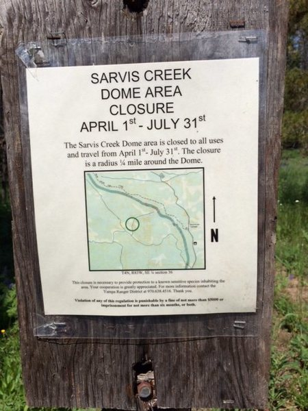 Rock Climbing Photo: Closure info.