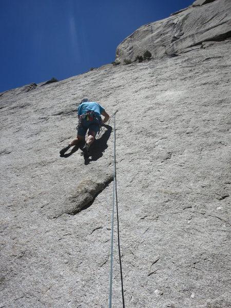 Rock Climbing Photo: Rick leading Lizard King.