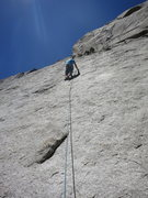 Rock Climbing Photo: Rick G leading Lizard King.