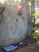 "Rock Climbing Photo: ""Depends"" on how tall you are? V3/V4"