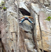 """Rock Climbing Photo: On-sight of """"the nauseator"""" 5.11c in the..."""