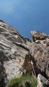 Rock Climbing Photo: The last pitch before the ridge.