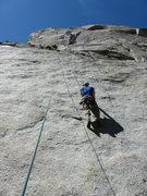 Rock Climbing Photo: Ryan climbing Mountaineers Route.