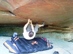 Rock Climbing Photo: Possible extension of route starting under roof.  ...