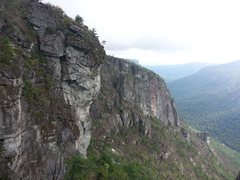 Rock Climbing Photo: An adventurous hard NC wall route.
