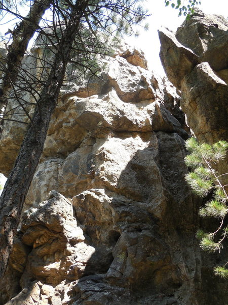 Fun steep athletic route. Definitely not technical crimping or Rushmore friction. Some pretty interesting holds.