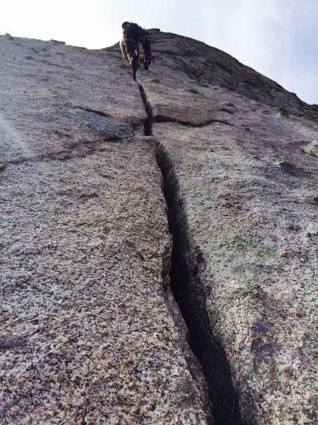 Rock Climbing Photo: Free solo