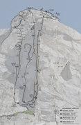 Rock Climbing Photo: Juggernaut Topo - Left Side