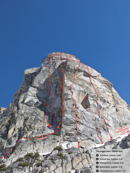 North Face of The Juggernaut