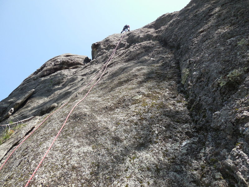 Rock Climbing Photo: This is the steep face of Belmont Brie-- note the ...