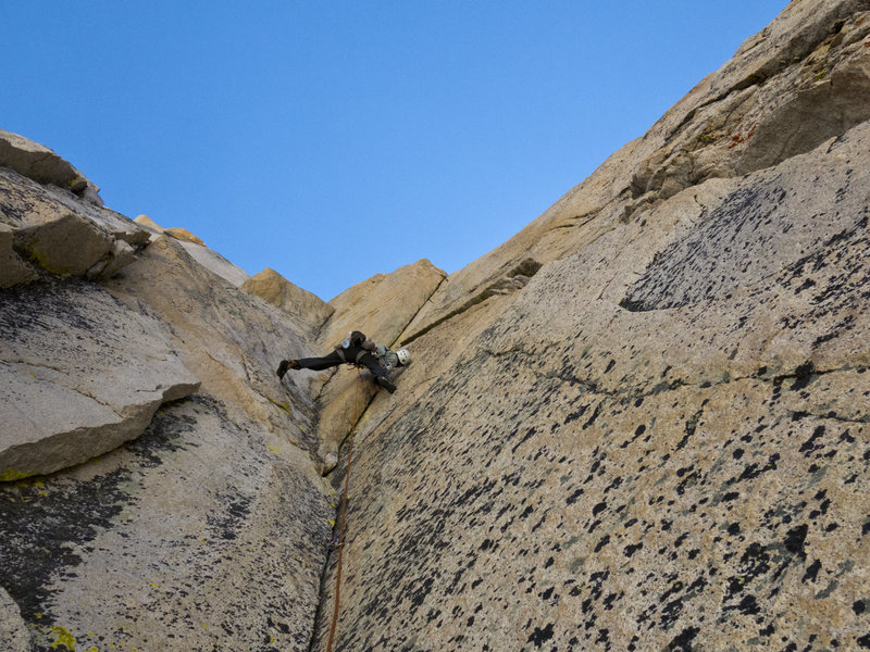 Rock Climbing Photo: Pitch 3 of The Dihedral Route