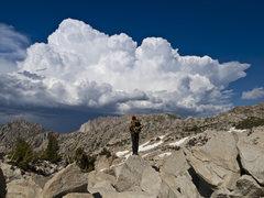 Rock Climbing Photo: Admiring the Hulk from the summit of The Juggernau...
