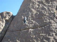 Rock Climbing Photo: Mark F. heading up Leonosphere.